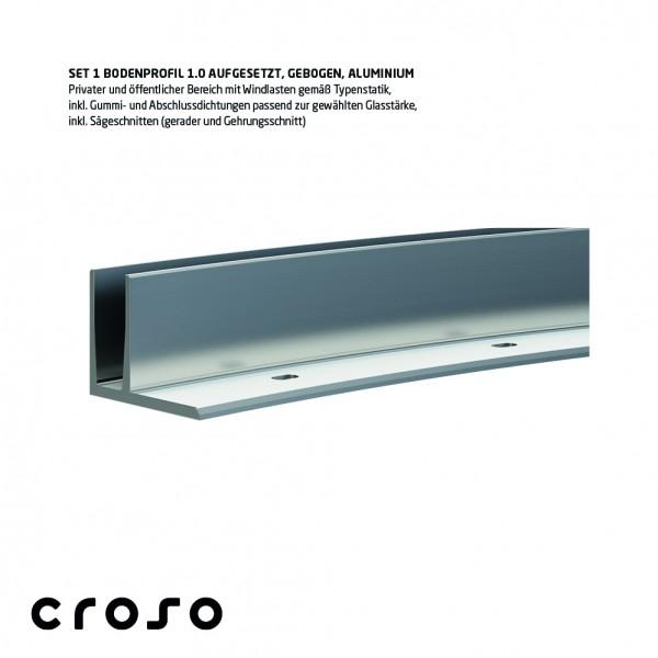 Set 1 Bodenprofil 1.0, Curve-Line, aufgesetzt, pressblank, Glasstärke 20,76-21,52mm