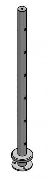 Mittelpfosten Drahtseil aufgesetzt, Ø42,4