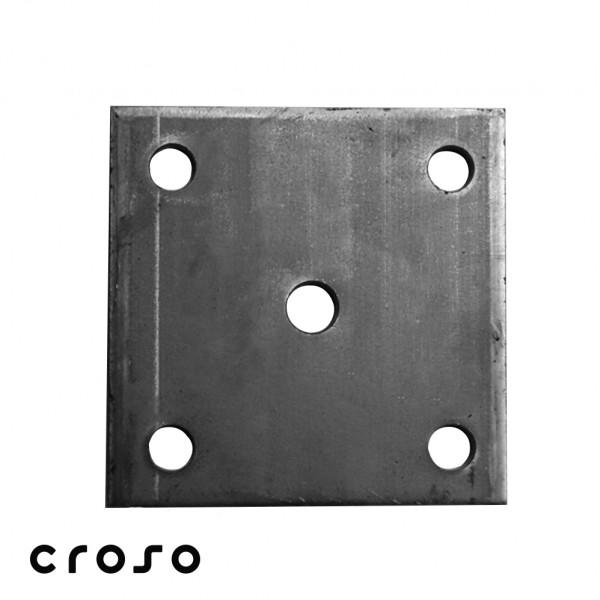 Platte Rundloch 4x Ø11mm, Stahl