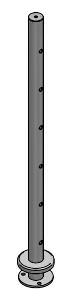 Endpfosten Drahtseil aufgesetzt, Ø42,4