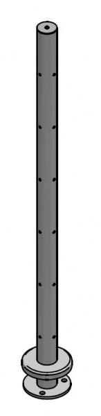 Eckpfosten Drahtseil aufgesetzt, Ø42,4