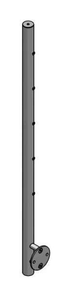 Pfosten Querstab vorgesetzt, Ø42,4, 5 Traversen
